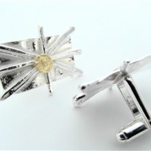 silver and gold cufflinks (1) - Copy