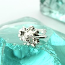 FTR02 Fair Trade Fair Mined Silver cluster ring (4)